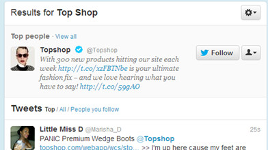 results for top shop